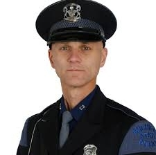 A photo of Trooper Raymond Hoffman, Michigan State Police Wayland Post